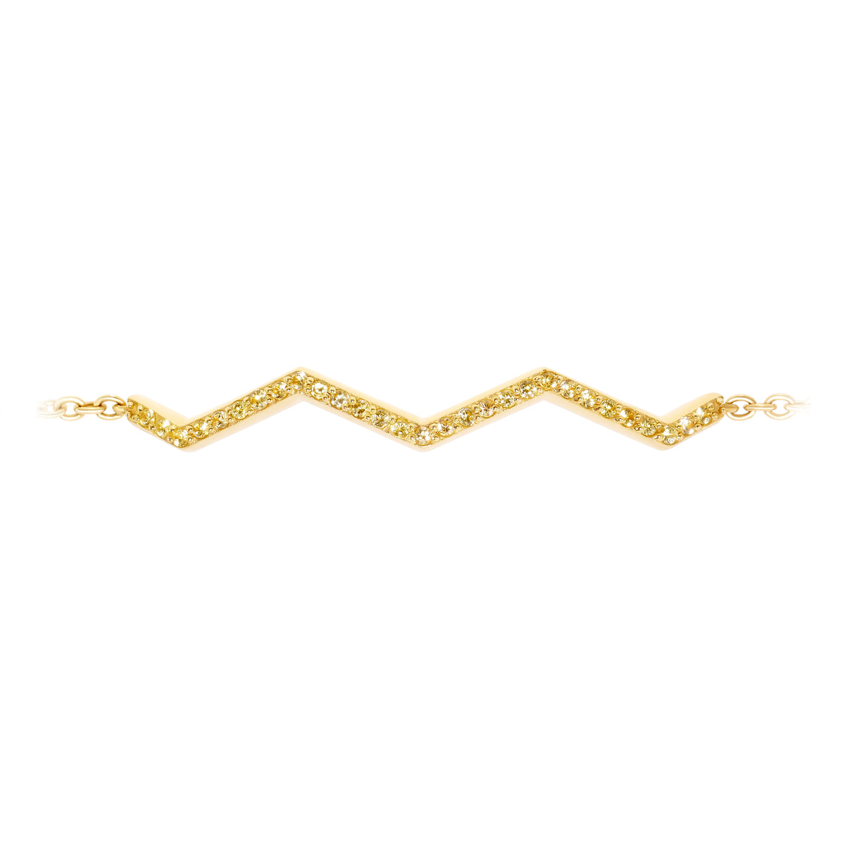 Chained Zig-Zag Bracelet in Yellow Sapphire