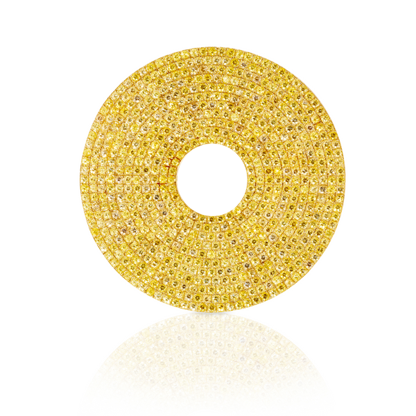 Yellow Sapphire Circle Earrings