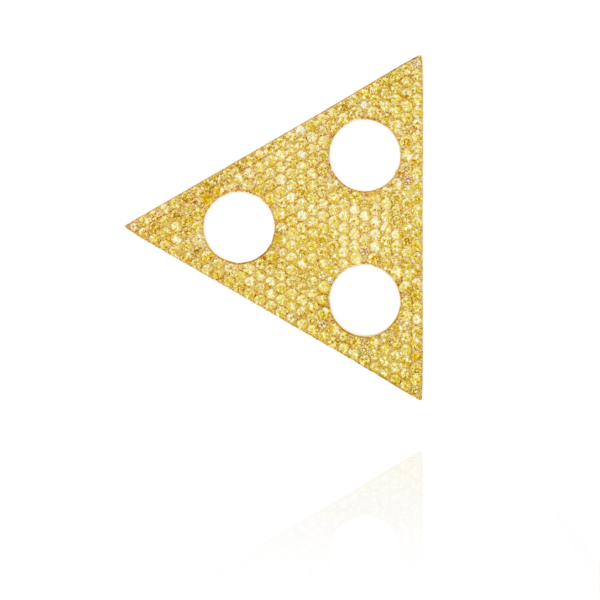 Yellow Sapphire Triangle Ear Piece