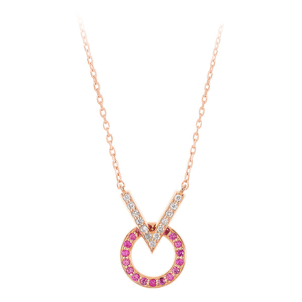 V Round Necklace
