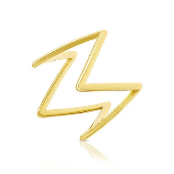 Yellow Gold Ziggy Ring