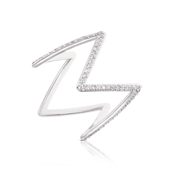 Ziggy Ring with Diamonds