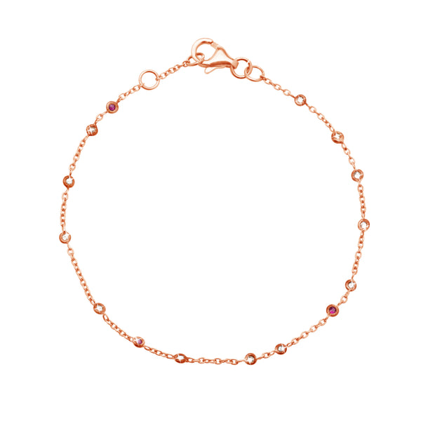 Chain Bracelet in 18k Rose Gold