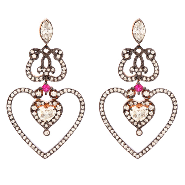 'Heart' Earrings in 18k Rose Gold