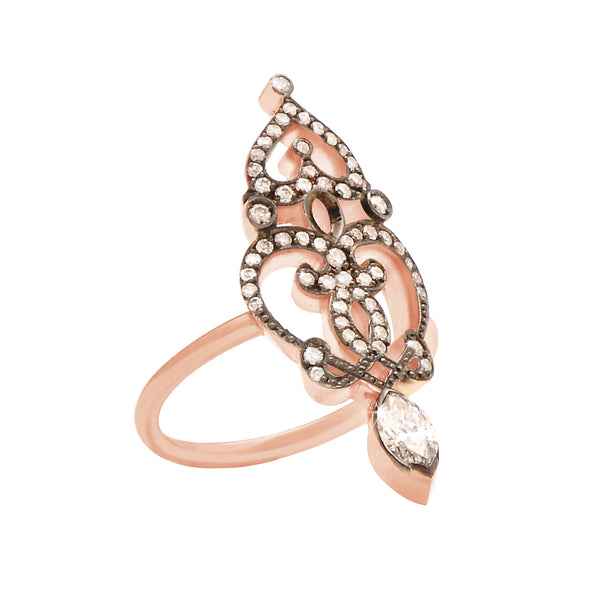 Marquise' ring in 18k rose gold