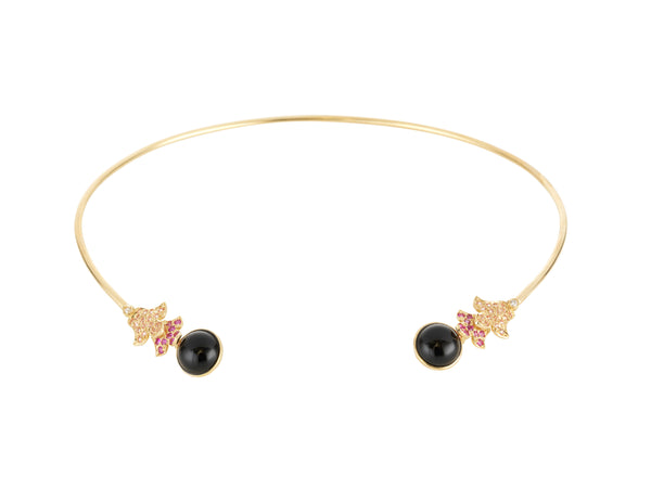 Foglia Rosa Necklace