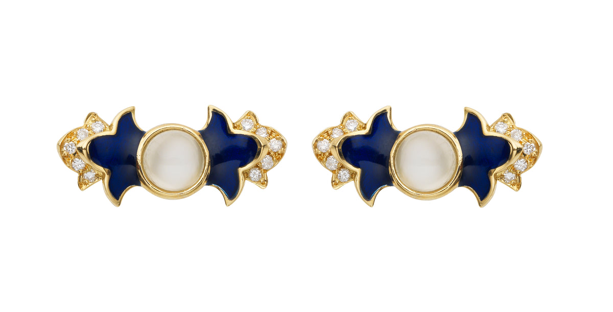 Foglia Blu Earrings