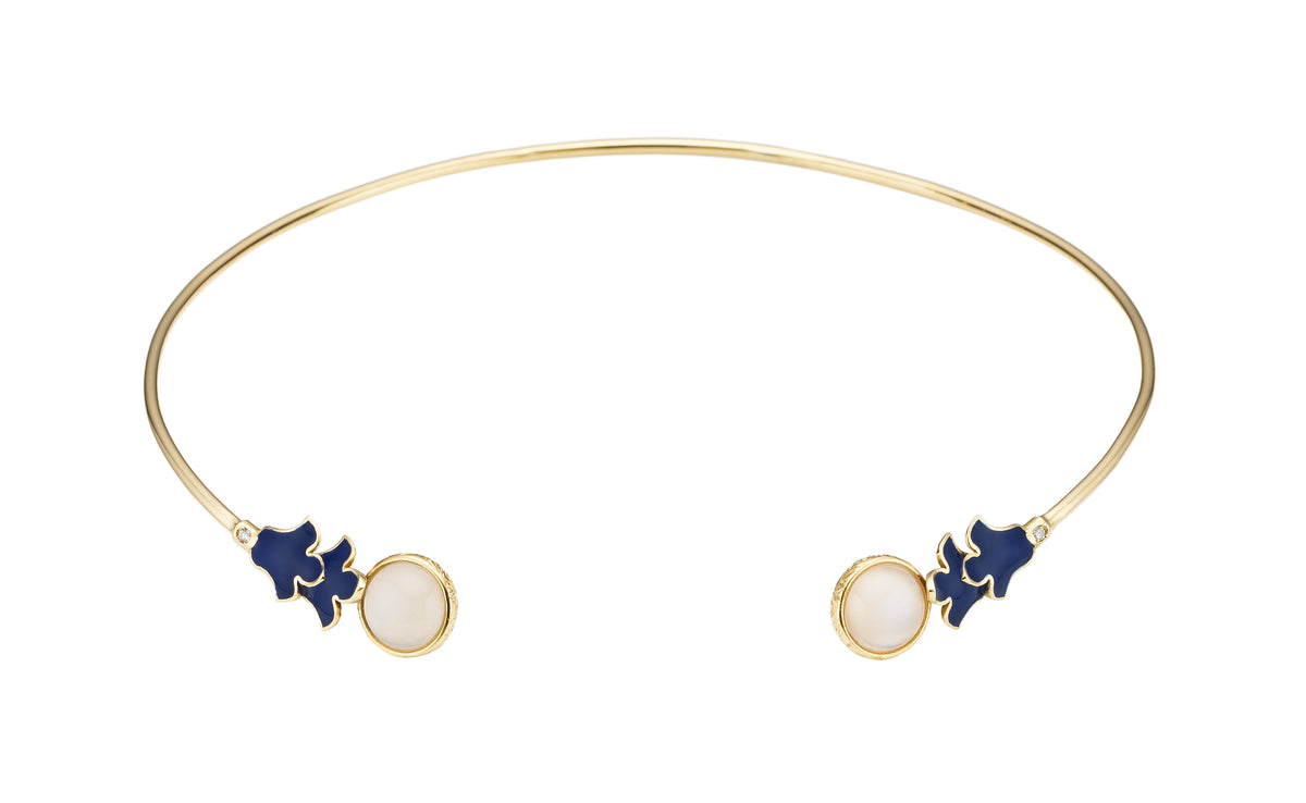 Foglia Blu Necklace