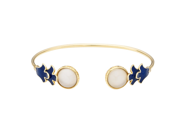 Foglia Blu Bangle