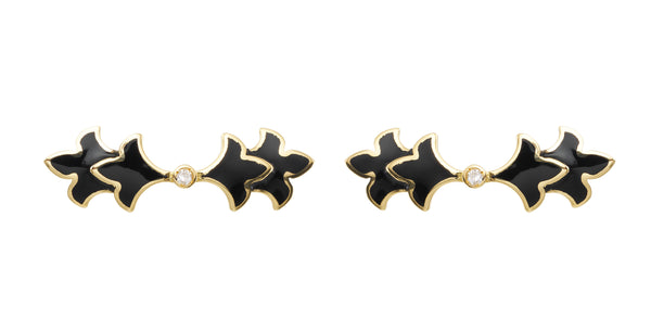 Foglia Trecento Earrings in Black