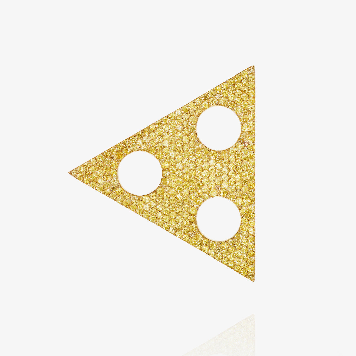 Yellow Sapphire Triangle Earring