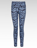 Slate Leopard Print Full Length Gym Leggings - bornnouli