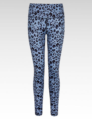 Slate Leopard Full Length Legging