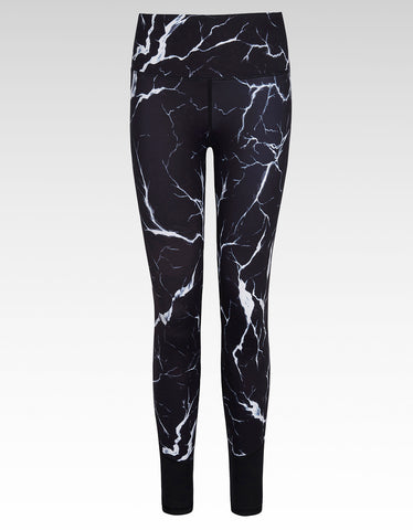 Noir Crackle Full Length Legging