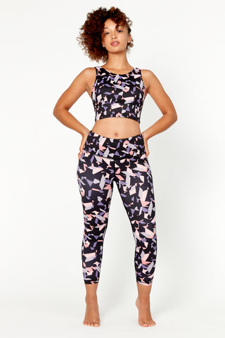 Indigo Leopard High Waisted 7/8 Legging