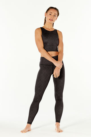 Gleam Black Gloss High Waisted Legging