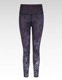 Steel Ombre Snake High Waisted Workout Leggings 7/8 - bornnouli
