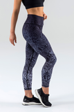 Steel Ombre Snake 7/8 High Waisted Workout Leggings