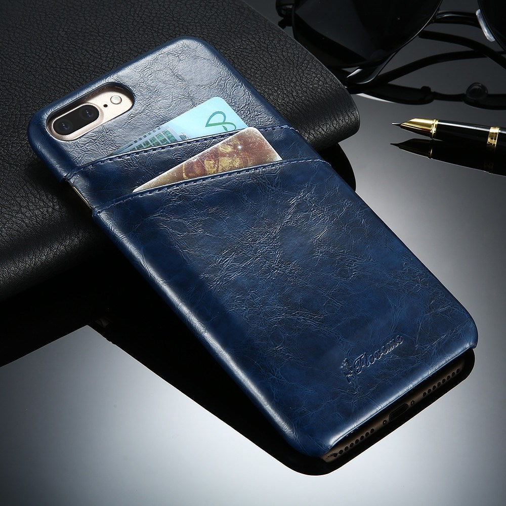 Business Style Luxury Leather Case For iPhone - Wallet Card Holder ...