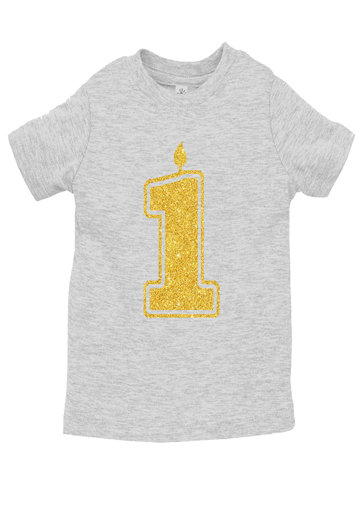 1 Gold First Birthday Shirts Handmade Boutique Style Baby Boy