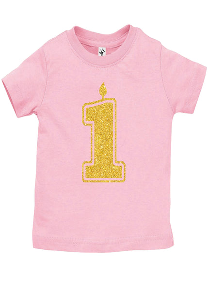 1 Gold First Birthday Shirts - Aiden's Corner