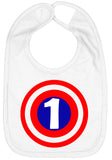 Super Hero 1 Shield First Birthday Smash Cake Bib - Aiden's Corner Baby Clothes