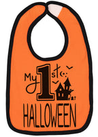 Handmade Boutique Style Baby Boys Girls Bibs - My 1st Halloween