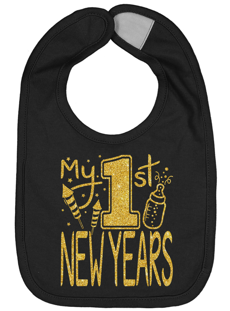 My First New Years Bib - Aiden's Corner Baby Clothes