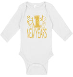 My First New Years Bodysuits - Aiden's Corner Baby Clothes