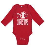 My 1st Christmas Red Long Sleeve - Aiden's Corner Baby Clothes