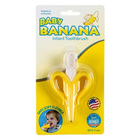 Baby Banana - Yellow Banana Toothbrush, Training Teether Tooth Brush for Infant, Baby, and Toddler - Aiden's Corner