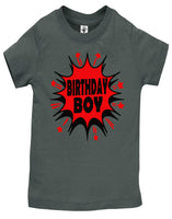 Super Hero Birthday Boy Shirt - Aiden's Corner