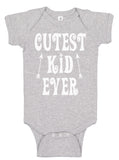 Handmade Boutique Style Baby Boy Girl Clothes - Cutest Kid Ever Onesie