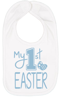 Handmade Boutique Style Baby Boy Clothes - My 1st Easter Bib