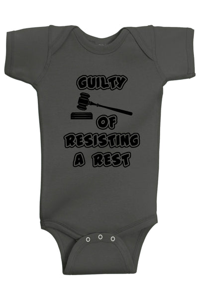 Guilty Of Resisting A Rest Bodysuits - Aiden's Corner