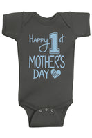 Happy 1st Mother's Day Bodysuits - Aiden's Corner Baby Clothes