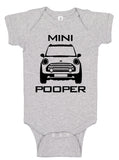 Handmade Boutique Style Baby Boy Girl Clothes - Mini Pooper Onesie