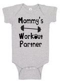 Mommy's Workout Partner Bodysuit - Aiden's Corner Baby Clothes