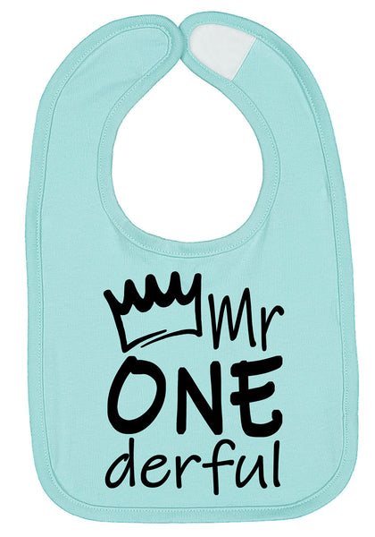 Mr One-derful First Birthday Smash Cake Bib - Aiden's Corner