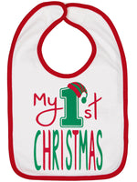 My 1st Christmas Bib - Aiden's Corner Baby Clothes