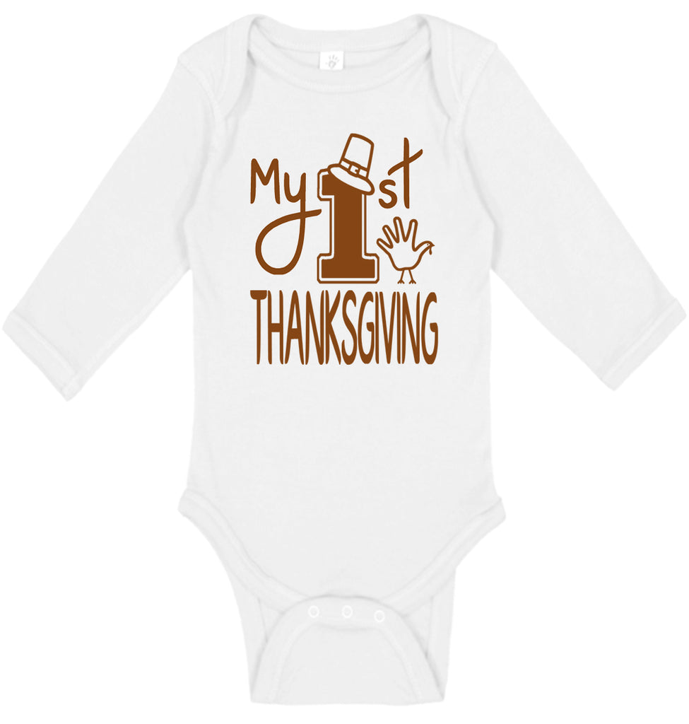 Baby's First Thanksgiving Long Sleeve - Aiden's Corner Baby Clothes
