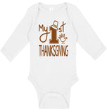 Handmade Boutique Style Holiday Baby Thanksgiving - My 1st Thanksgiving