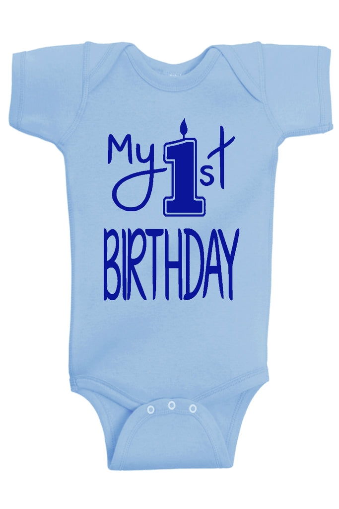 Handmade Boutique Style Baby Boy Clothes - My 1st Birthday Onesie