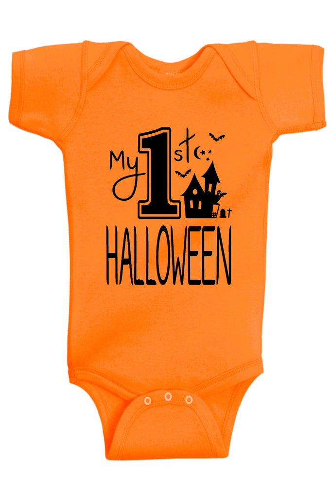 Handmade Boutique Style Baby Boy Girl Clothes - My First Halloween Costume Onesie