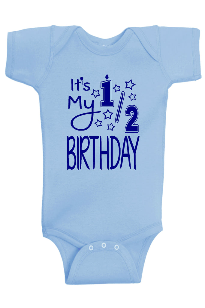 It's My Half Birthday Bodysuit - Aiden's Corner Baby Clothes