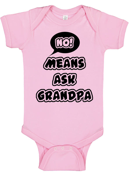 No Means Ask Grandpa Bodysuit - Aiden's Corner