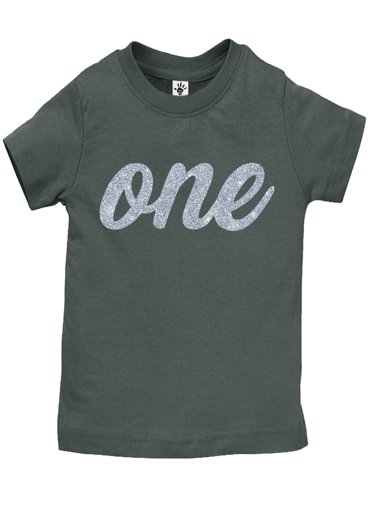 One Silver Birthday Shirt - Aiden's Corner Baby Clothes