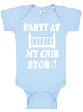 Party At My Crib Bodysuits - Aiden's Corner Baby Clothes