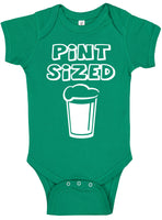 Handmade St Patrick's Day Boy Girl Apparel Pint Sized Green Onesie