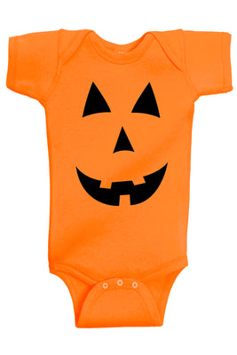Baby Boy Clothes - Pumpkin Face Halloween Costume Bodysuit @ aidenscorner.com